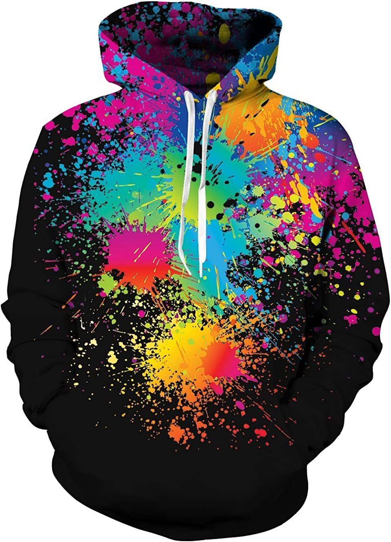 Ahegao Unisex Novelty Hoodies 3D Printed Graphics Fleece Pockets Pullover Sweatshirts for Christmas Halloween