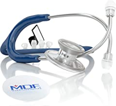 MDF Instruments MDF747XP-04 Acoustica Deluxe Lightweight Dual Head Stethoscope - Free-Parts-for-Life & Lifetime Warranty - Navy Blue