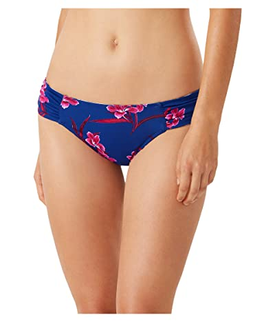 Tommy Bahama Oasis Blossoms Reversible Side Shirred Hipster (Blue Sapphire) Women