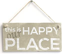 Meijiafei This is Our Happy Place - Vintage PVC Sign/Plaque 10