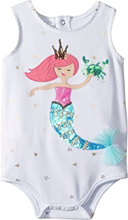 Mermaid One-Piece Ruffle Crawler (Infant)