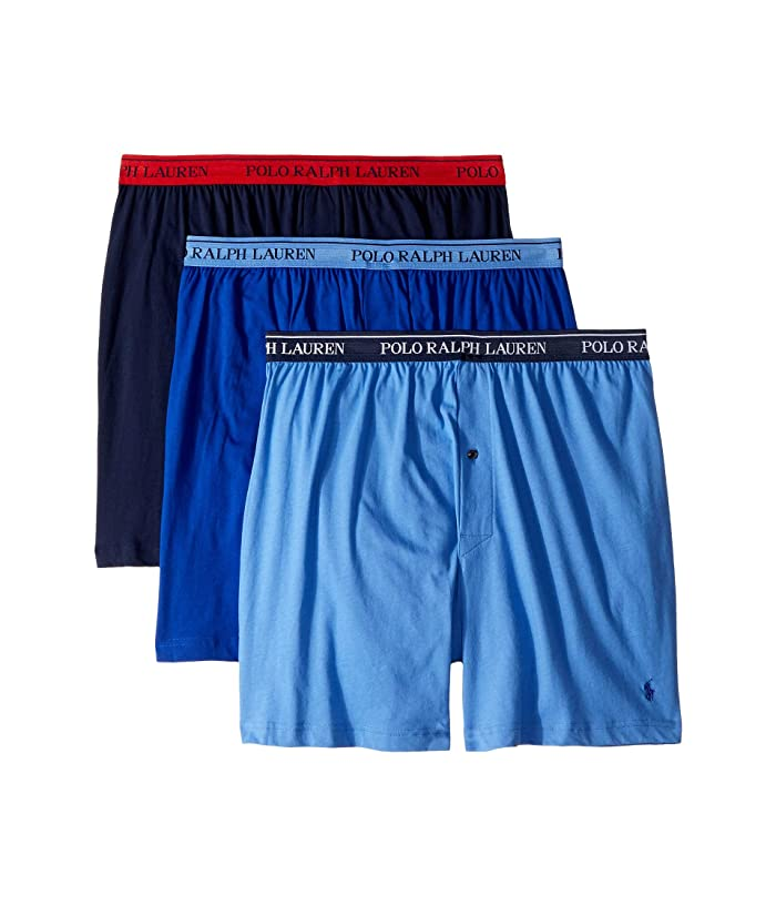 e4e6455c2361 Polo Ralph Lauren Classic Fit w/ Wicking 3-Pack Knit Boxers at ...