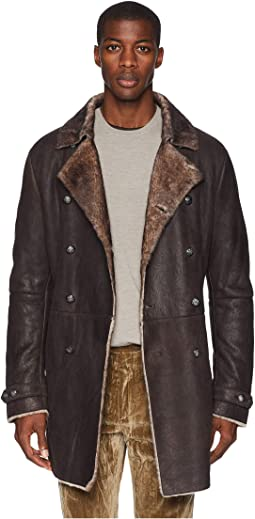 Double Breasted Shearling Coat L617U3