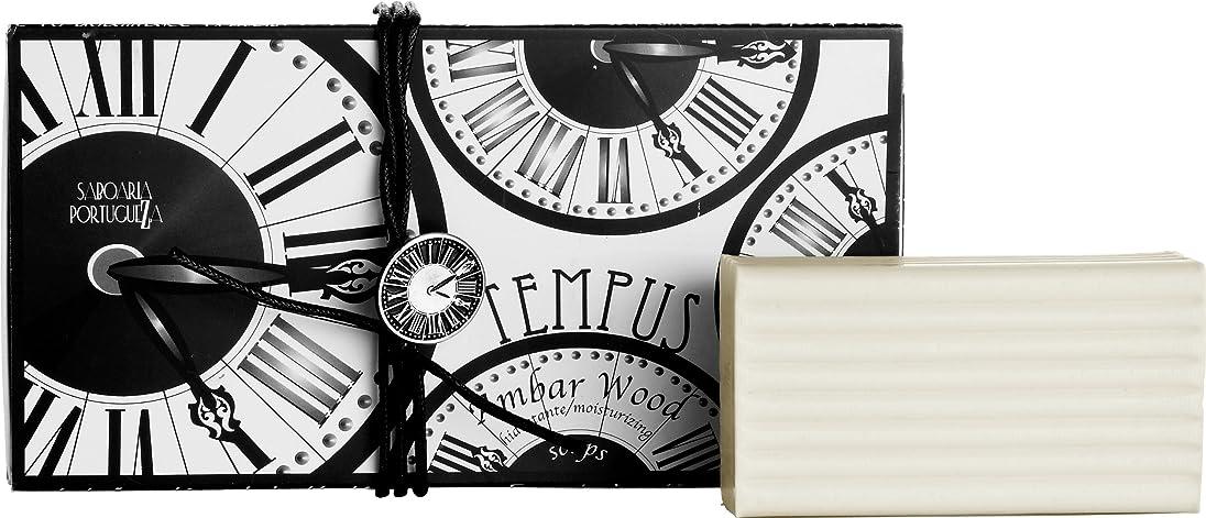 で心のこもった打ち上げるサボアリア テンプス/tempus ソープセット3×180g アンバーウッド