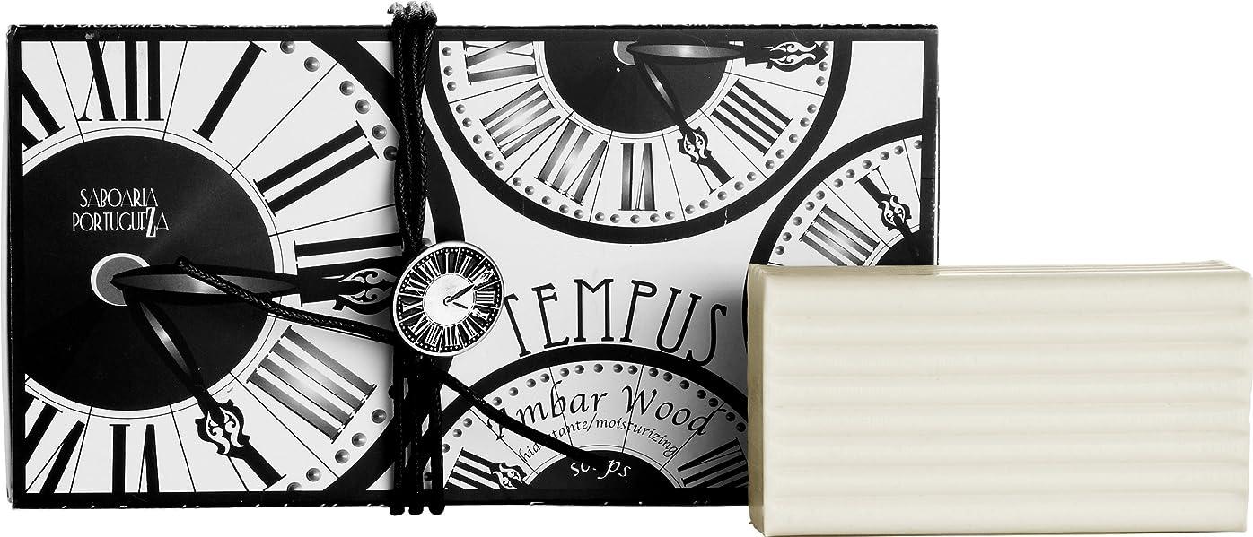 置き場娘電気のサボアリア テンプス/tempus ソープセット3×180g アンバーウッド