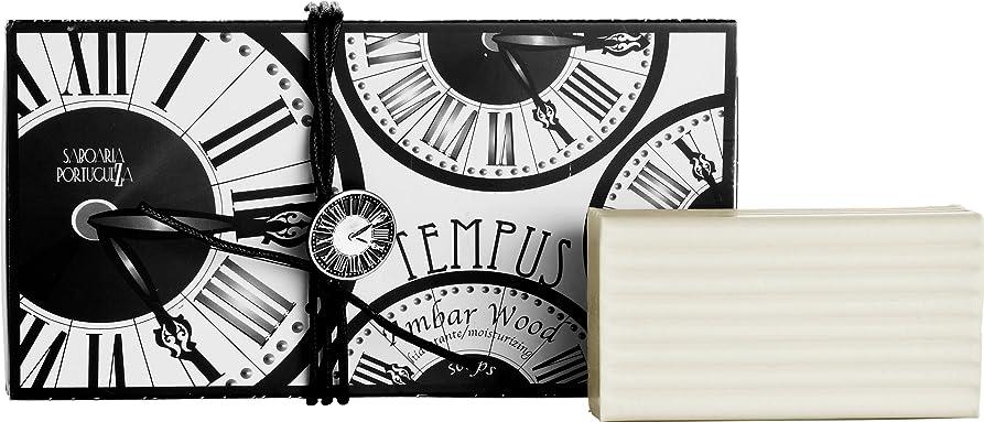 チーム骨土砂降りサボアリア テンプス/tempus ソープセット3×180g アンバーウッド