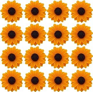 Flower Resin Cabochons SALE 20/% off 10pcs RC205 Mint Flower Acrylic Cabochons 22mm Bridal Flowers Sunflower Sunflower Wedding
