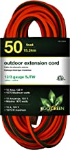GoGreen Power GG-14050 – 12/3 50' SJTW Outdoor Extension Cord – Lighted End