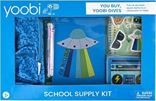 Yoobi Blue Basics Boombox School Supply Kit