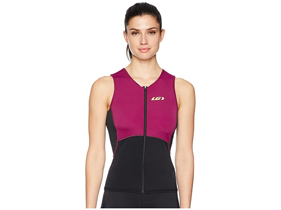Louis Garneau Tri Comp Sleeveless (Black/Purple) Women
