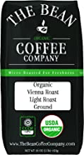 The Bean Coffee Company Organic Vienna Roast, Light Roast, Ground, 16-Ounce Bag