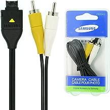 Original Samsung Retail Packaged Camera AV Cable CB20A12 for AQ100/TL100/TL105/TL110/TL205/TL210/TL220/TL240/TL9/TL90/HZ15W/HZ25W/HZ30W/HZ35W/L100/L110/L200/L210/NV30/NV4/NV40/SL102/SL105/SL201/SL202/SL310/SL420/SL50/SL502/SL600/SL605/SL620