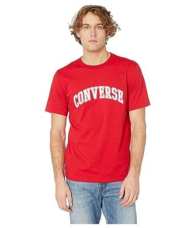 Converse Collegiate Text Short Sleeve Tee (Enamel Red) Men