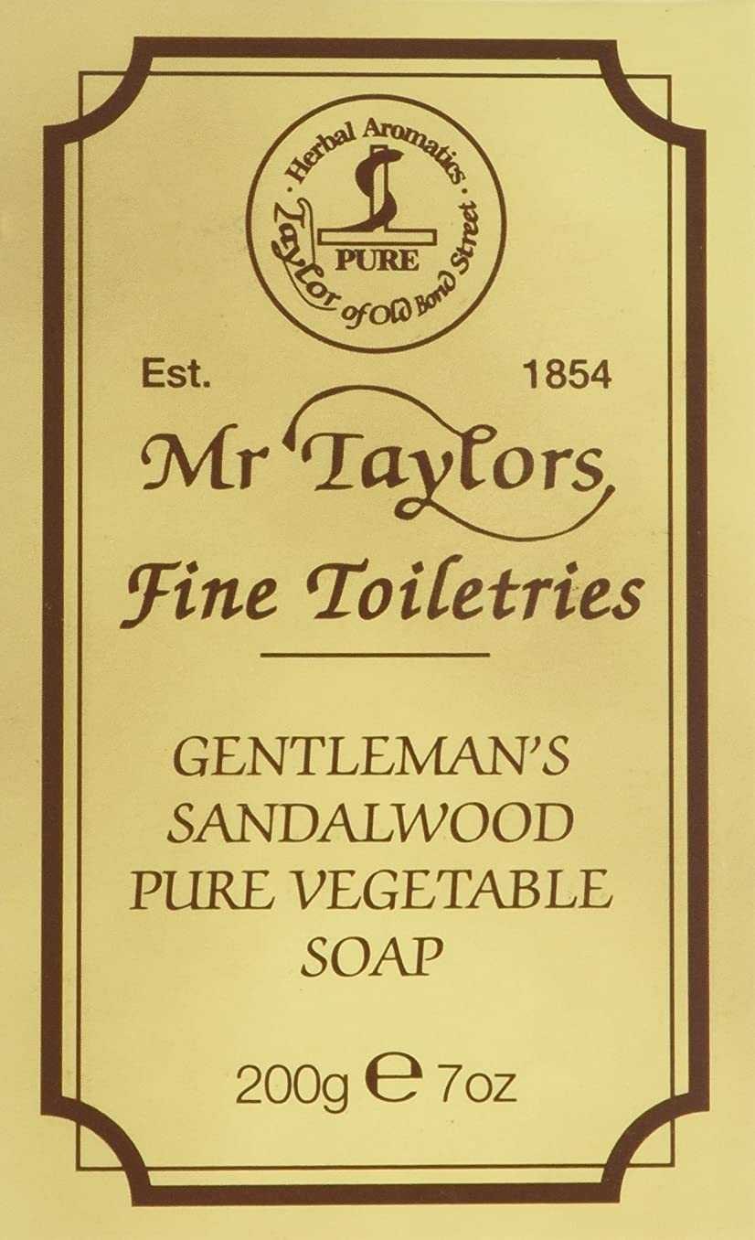 と返還彼らSandalwood Bath Soap 200g soap bar by Taylor of Old Bond Street