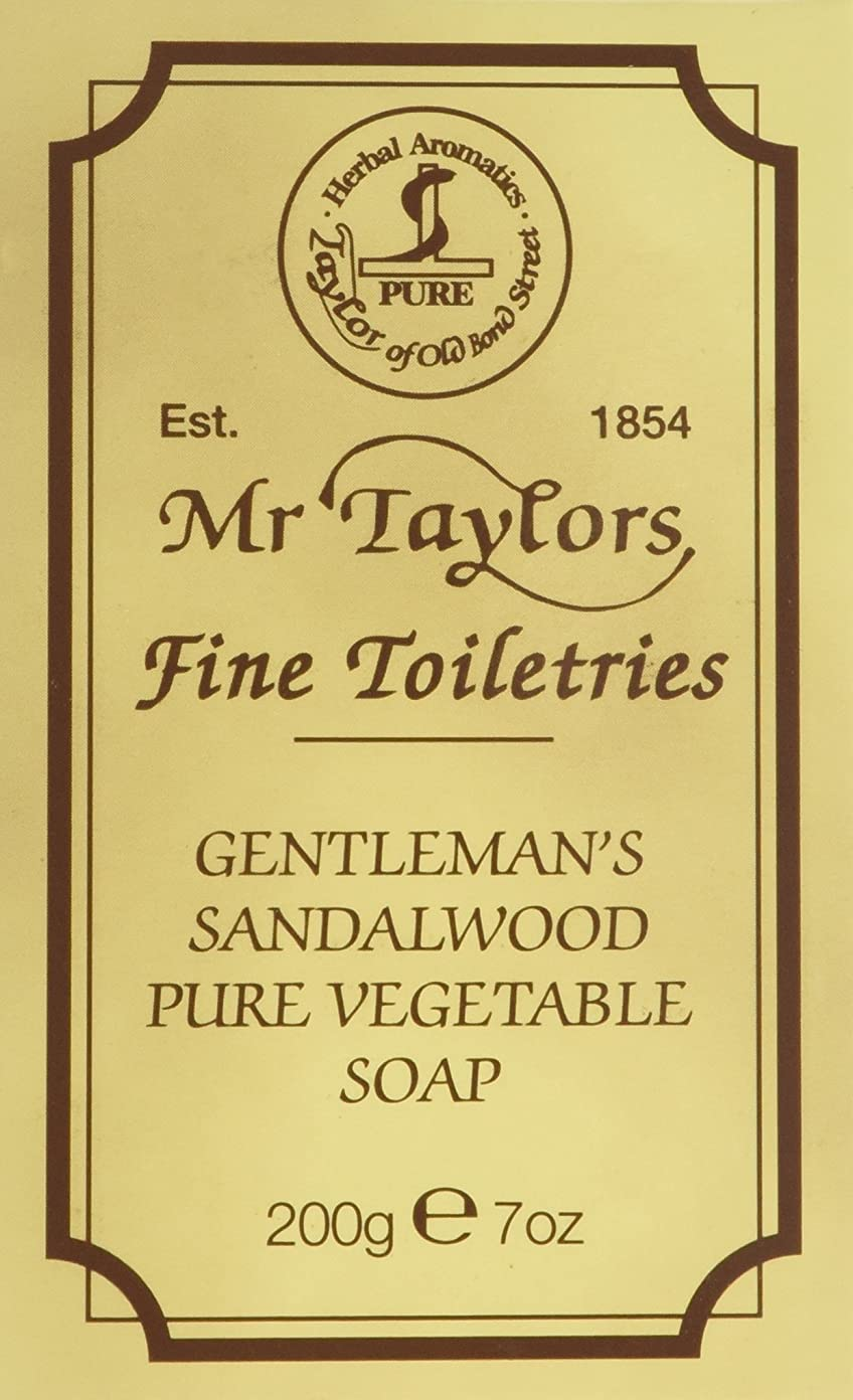 品敵意断片Sandalwood Bath Soap 200g soap bar by Taylor of Old Bond Street