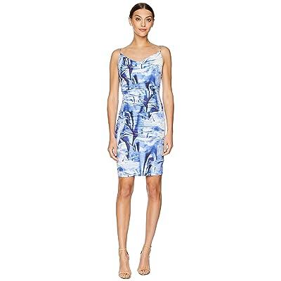 Nicole Miller Carly Tuck Dress (Blue Multi) Women