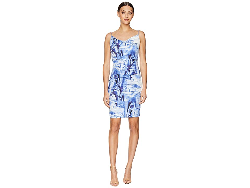 Nicole Miller Carly Tuck Dress (Blue Multi) Women