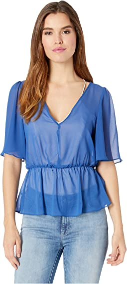 Twist Back Surplice Top