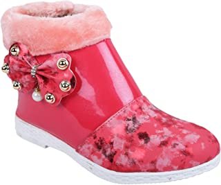 LNG Lifestyle Girls Zip Casual Boots (Pink)