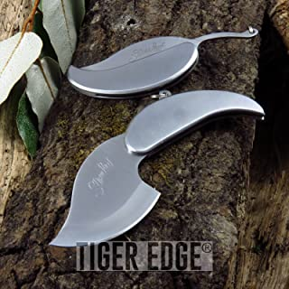 Portable Tactical Folding Pocket Knife Silver Leaf Keychain Necklace iCareYou Blade - Great Gift! - SS0007
