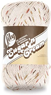 Lily Sugar 'N Cream Big Ball Ombres Yarn - (4) Medium Worsted Gauge 100% Cotton - 12 oz - Sonoma Print - Machine Wash & Dry