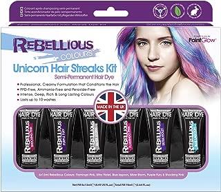 Paint Glow Rebellious Colours Unicorn Hair Streaks Kit Temporary Semi Permanent