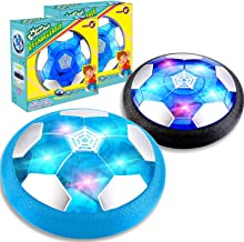 TURNMEON 2 Pack Hover Soccer Ball, Rechargeable Soccer Ball Toys Indoor Floating Soccer with LED Light & Foam Bumper - Per...