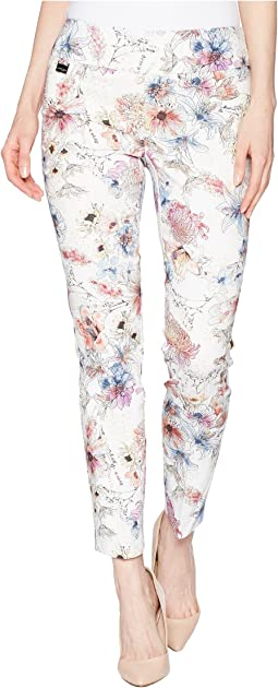 Tiger Lily Print Ankle Pants