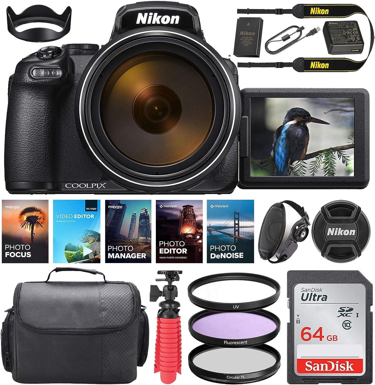 Nikon New York Mall COOLPIX P1000 Max 74% OFF Digital Camera MP 16 Lens 24-3000mm