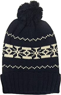 Mens Womens Soulstar Knitted Bobble Pattern Pom Pom Beanie Woolly Winter Hat