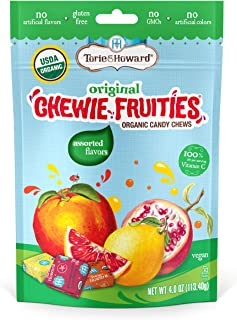 Torie & Howard Chewie Fruities Organic Candy Assorted Flavors, 4 Ounce Bag