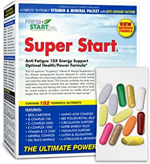 Super Start - Complete Daily Vitamin Pack - 10X Energy, Stamina, Muscle Support, Immune Booster - Essential Vitamins, Mine...