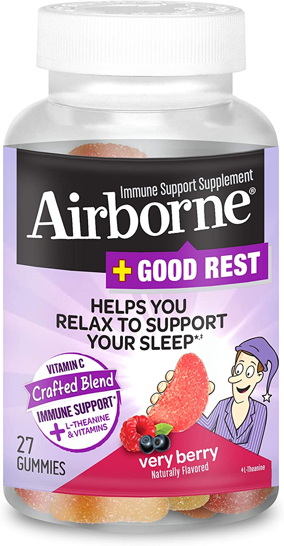 Manufacturer OFFicial shop Airborne Vitamin C 750mg per serving - Rest + L-Theanine Good Popular product