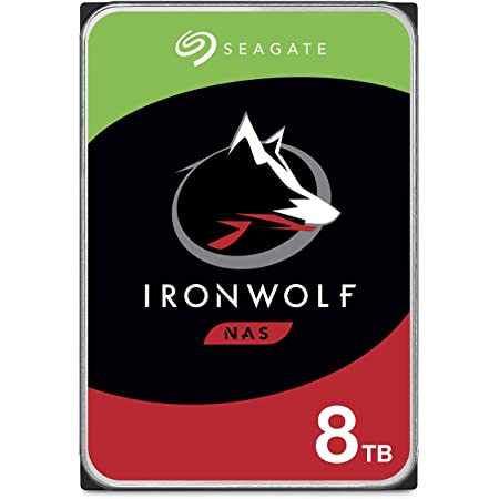 Seagate IronWolf 8TB NAS Internal Hard Drive HDD – 3.5 Inch SATA 6Gb/s 7200 RPM 256MB Cache for RAID Network Attached Storage – Frustration Free Packaging (ST8000VNZ04/N004)