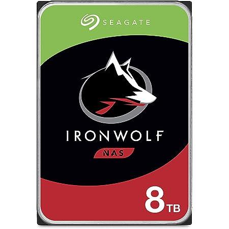 "Seagate IronWolf, 8TB, NAS, Disco duro interno, HDD, CMR 3,5"" SATA 6 Gb/s, 7200 r.p.m., caché de 256 MB para almacenamiento conectado a red RAID (ST8000VN0022)"