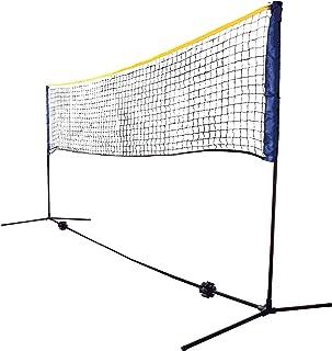 Set de Red Kombi, Red de Ocio para Bádminton, Tenis de Calle y Otros Deportes, Ajustable en Altura Desde 0,75m a 1,55 m, Ancho 3m