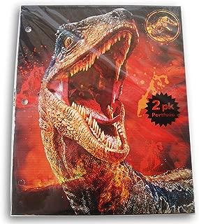 Jurassic World Folders Bundle - Set of Two 3-Hole 2-Pocket Portfolio Folders