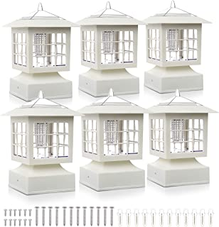 """Post Solar Fence Light Solar Deck Light Solar Post Cap Light Solar Patio Light 15 LUMENS KS101X6W fit for 3.7X3.7"""" Regular Fence Posts or with Included Adaptor fit for Bigger Flat Surface"""