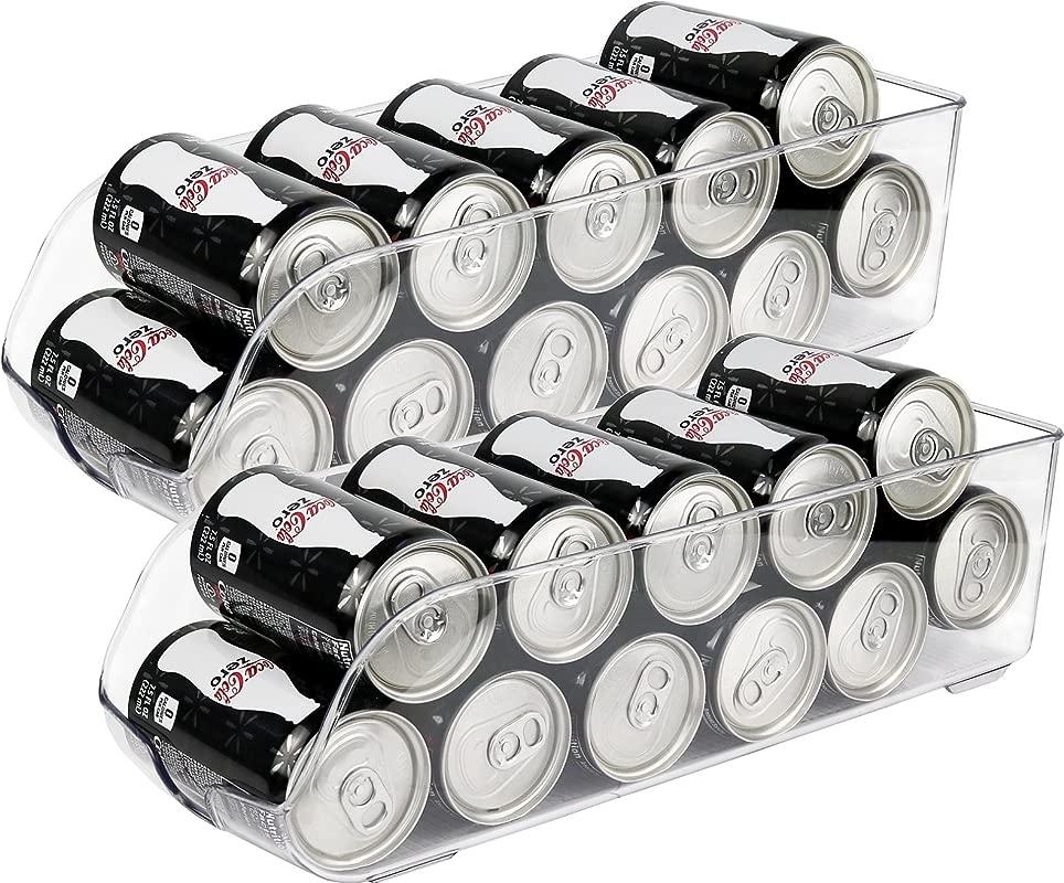 Greenco Refrigerator And Freezer Drink Holder Storage Bin 13 5 X 5 5 X 3 75 Clear 2 Pack