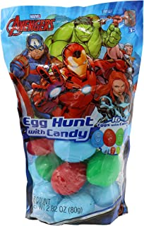 Frankford Candy Company Avengers Embossed Plastic Candy Egg Bag, 2.82 Ounce