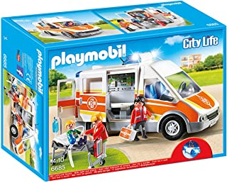 Playmobil - Ambulancia con luces y sonido (66850