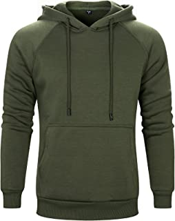 LBL ASALI Men's Casual Hoodies Solid Color Sports Pullover Soft Hooded Sweatshirt Outwear Sweater