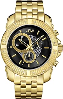 JBW Mens Quartz Watch, Analog Display and Stainless Steel Strap
