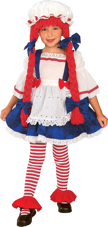 Rag Doll Raggedy Ann Blue Polka Dot Dress Up Leg Avenue Halloween Child Costume