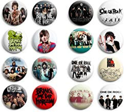 Bring Me The Horizon / One Ok Rock Pinback Buttons 16Pcs 1.25 inch Best For Jacket,T-Shirts Mix Set