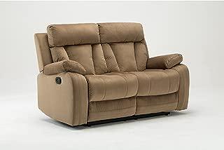 Blackjack Furniture The Elton Collection Modern Reclining Living Room/Den Loveseat, Beige