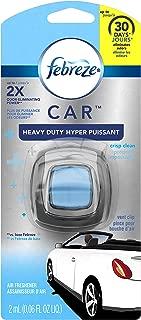 Febreze Air Freshener, Car Vent Clip Air Freshener, Heavy Duty Air Freshener, Crisp Clean Air Freshener