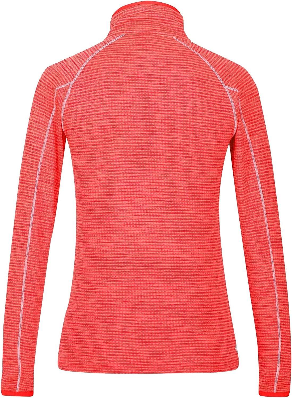 Regatta Damen Womens Yonder Quick Dry Grid Fabric Performance Wicking Zip Neck Fleece T-Shirts//Polo-Hemden//Westen