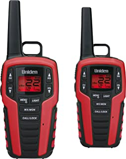 Uniden SX327-2CK 32-Mile Range FRS Two-Way Radio Walkie Talkies, Dual Charging Cradle, Water Resistant, 22 Channels w/ 121 Privacy Codes, Power Boost, NOAA Weather + Alert, and LED Flashlight/Strobe