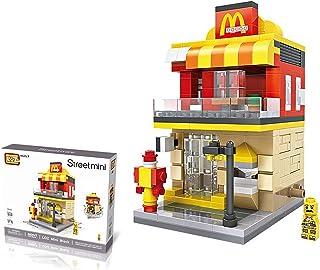 LOZ StreetMini Fast Food Restaurant Architecture Blocks Building Plastic Assembly Toys for Children